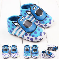 Cartoon Toddler Baby Boys Girl Cow Imp Sneakers First Shoes Non-slip 0-12 Months