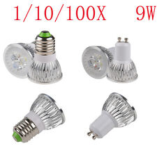 CREE 9W GU10 E27 E26 LED light 3X3W Home ceiling Spotlight Lamp Power Bulb white