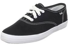 Keds Champion Black White Canvas Womens Plimsolls Trainers Shoes