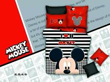 *** Stripy Mickey Mouse Single Bed Quilt Cover Set - Flat or Fitted Sheet ***