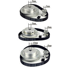 HTD3M 60T 15T Timing Pulleys + Timing Belt Width 10mm Sets Reduction Ratio 1:4