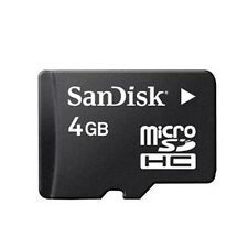 For VERIZON PHONES - AUTHENTIC SANDISK 4-GB MICRO-SDHC MEMORY CARD NEW