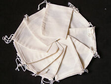 Reusable Cotton Muslin Bags/Spice/Herbs/Bouquet Garni/Mulled Wine/Infuser Bags