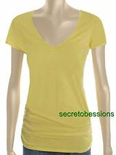 XS or L Victoria's Secret Tee Shop Lemonade Ruched V-neck Cotton Tunic Top NEW