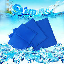 New Blue Ice Cool Mat Pet Dog Cat Cooling Bed Ice Pad Cushion Summer Cool Pad