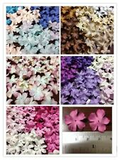 100 Artificial Mulberry Paper Blossom flowers Petal Handmade Scrap-booking 20mm.