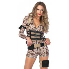 Army Girl Costume Adult Sexy Soldier Military Halloween Fancy Dress