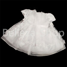 3Pcs Embroidery Christening Gown Flower Girl Formal Dress Baby Size 0m-18m FG092