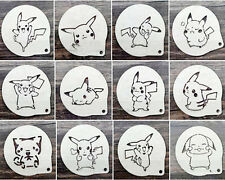 Set Pikachu Cup Cake Cookie Stencil Pokemon Decorating Sugarcraft Template Icing