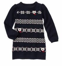 NWT Gymboree Holiday Shop Fair Isle Sweater Dress Bear Snowflake 4 5 7 8 10