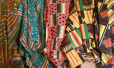 """3 YARDS OF AFRICAN PRINT FABRIC 100% COTTON 44"""" WIDE"""