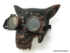 Steampunk Goggles Masquerade Wolf mask Halloween Haunted House Party Wall Deco