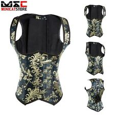 Women Underbust Waist Trainer Cincher Brocade Boned Corset Body Shapewear Floral