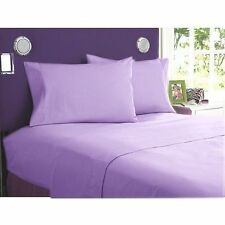 LILAC SOLID 1000TC EGYPTIAN COTTON BEDDING ITEM SHEET/DUVETS/FITTED ALL SIZES