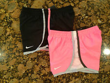 NWT Nike Girls Dri-Fit Tempo Running Shorts w/Briefs size 6 Black or Pink 367358