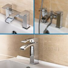 Peak Basin Mixer Bath Filler Shower Mixer Sink Tap Chrome Bathroom Cloakroom
