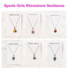 2pc/pack Sports Necklace Softball Baseball Football Volleyball Basketball Soccer