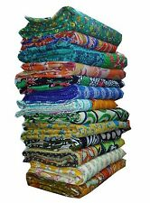 Indian Vintage Handmade 100% Cotton Kantha Quilt Throw Bedspread 100% Reversible