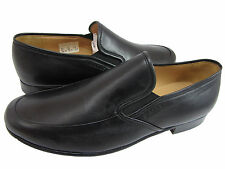 Bally Mens Havanna Black Leather Casual Slip-On Formal Loafers Dress Shoes