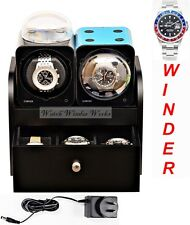 Fancy Brick Dual Automatic Watch Winder system-model:2FB-B2-CLRS;expandable to 6