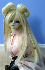 Doll Wig Lolita Style with Buns and Braids Blonde BJD Size 7, 8, 9, 10 NEW