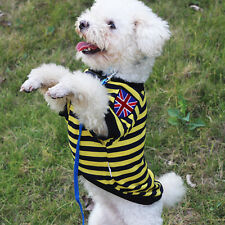 2016 Summer Cute Dog Striped Clothes T shirt Red Blue For Small Dog Vest 5 Sizes