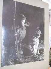 Korean War Official Photo Large Unreal Sentry and Dog