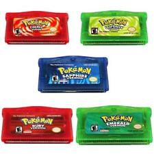 Pokemon Gameboy Game Card for GBA/NDS/NDSL/GBM/GBA SP Games Pocket Monster Fans