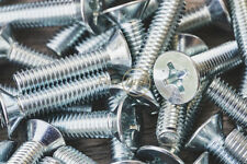 M4/ 4mm, Machine Screws, Pozi, Countersink, Zinc/ pozi csk bolts, DIN 965Z