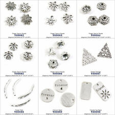 Antique Silver Jewelry Making Charms Findings Spacer Beads Friends Forever Tags
