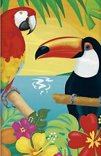 Tropical Island Luau Toucan Plastic Party Tablecover Tablecloth 1-5pk
