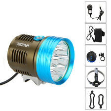 Rechargeable  20000LM 9xCREE XM-L T6 LED Front Bicycle light Bike 26650+Laser RL
