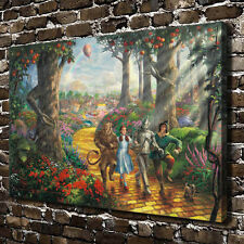 Disney Oil Painting HD Print on Canvas Modern Deco,Follow the YELLOW BRICK ROAD