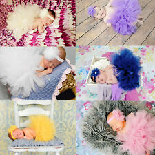 Sweet Baby Girl Newborn Tutu Skirt & Flower Headband Photo Prop Costume Outfit