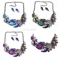 Fashion Peacock Jewelry Set Wedding &Formal Occasion Choker Necklace Earring Set