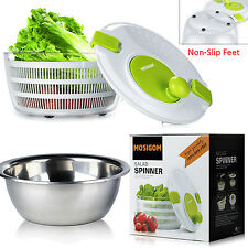 Plastic Salad Spinner Vegetable Lettuce Food Herb Dryer Bowl Container Kitchen