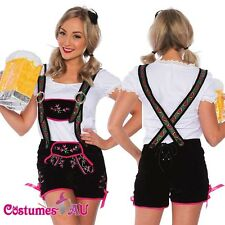 Ladies German Beer Maid Woman Oktoberfest Costume Embroider Lederhosen Party Hat