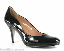 Tahari Colette Black Patent Leather Scalloped Edge Pump High Heels NIB Size 11