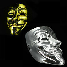 V for Vendetta Guy Fawkes Mask Anonymous Halloween Cosplay Costumes Fancy Dress