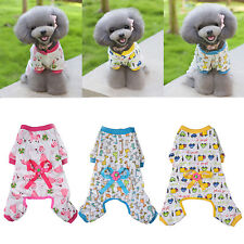 New Small Pet Dog Stripes Pajamas Coat Cat Puppy Cozy Clothes Apparel Clothing