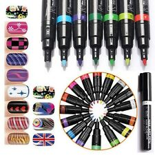 10Colors Nail Art Pen Painting Design Tool Liner Dotting Drawing Brush Polish