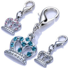 Pet Dog Tags Rhinestone Dog Collar Charm Lobster Clasp Jewelry Necklace Pendants