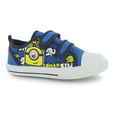 Minion Shoes Size 20-27 Leisure Sneakers trainers Canvas blue yellow NEW