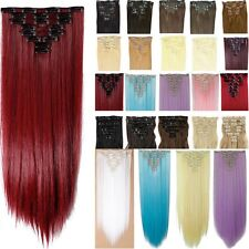 Real Natural as human Hair 8Pcs Full Head Lady Clip In Hair Extensions Ombre H85