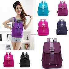 Women Girls Multi-Color Canvas Backpack School Bag Bookbag Campus Shoulder Bag