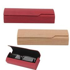 Wood Grain Style Hard Case Protector Storage for Eye Glasses Eyewear Sunglasses
