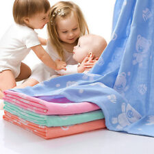 Infant Newborn Baby Cotton Bath Swaddle Blanket Wrap Hooded Towel Sleeping Bag