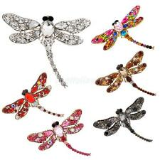 Fashion Rhinestone Dragonfly Shape Crystal Wedding Bridal Alloy Pin Brooch