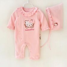 Newborn Baby Girl Clothe Infant Princess Jumpsuit HelloKitty Cotton Baby Romper