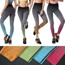 Womens Exercise Leggings Fitness Gym Running Yoga Sports Stretch Cropped Pants